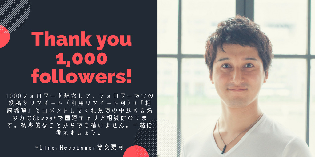 Thank you 1,000 followers!