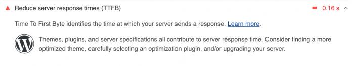 Reduce server response times
