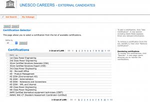 UNESCO Certificate List
